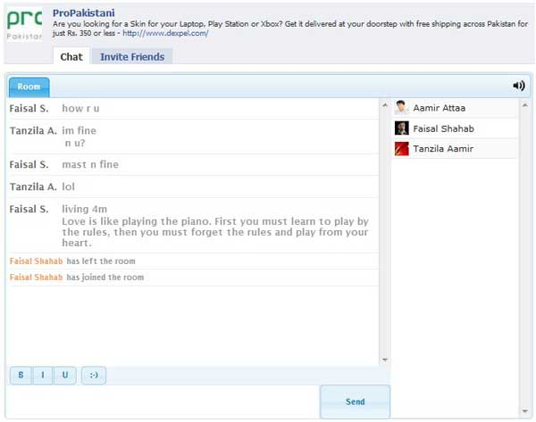 how to start a chat room on facebook