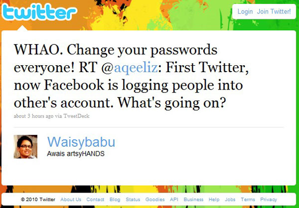 Facebook and Twitter Went Ugly in Pakistan, Allowing Random Logins