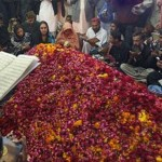 Nusrat Bhutto laid to rest in Garhi Khuda Bakhsh