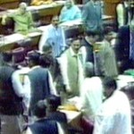 Fight Between PML-N - MQM Mars National Assembly Proceedings