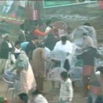 Pakistan Tehreek-e-Insaf Kasur Rally People Steal Chairs