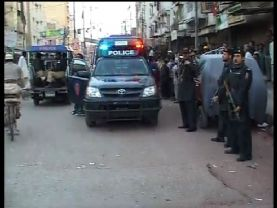 Exchange Fire in Lyari