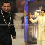 Pakistani Cricketers Younis Khan-Umar Gul Take Turn on the Catwalk (Bridal Week Couture 2012)