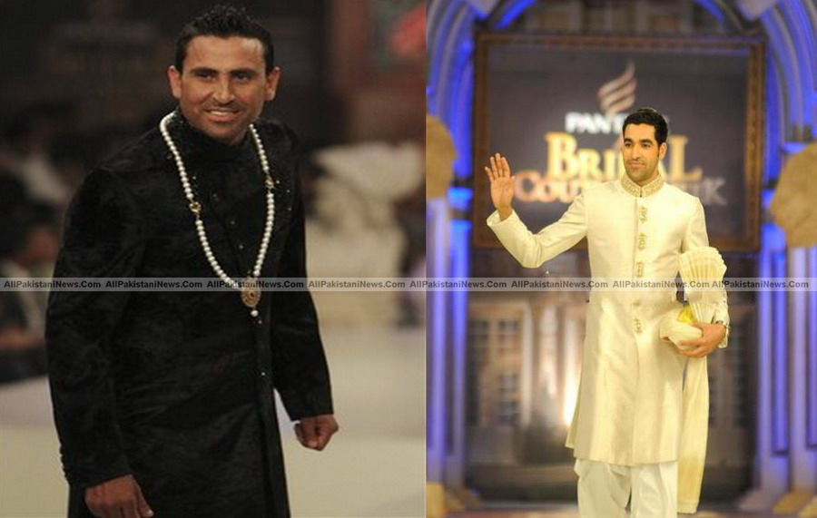 Younis Khan-Umar Gul Take Turn on the Catwalk