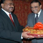 Asif Zardari meets Altaf Hussain (London)