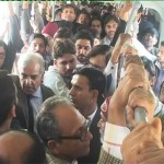 Shahbaz Sharif Rides on Metro Bus as Commoner