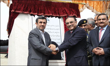 Asif Ali Zardari and Mahmoud Ahmadinejad