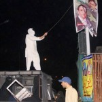 Jamia Hafsa Students Vent Anger at Pervez Musharraf Posters