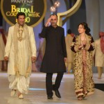 Bridal Couture Week 2013 Wasim Akram on Ramp with Zeba Bakhtiyar