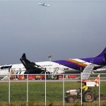 14 Injured Thai Airways Airbus 330 skids off Bangkok Runway