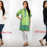 Colorful Latest Pakistani Fashion Winter Dresses Collection 2014