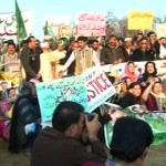 All Pakistan Muslim League Workers Rally in Support of Pervez Musharraf