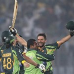 Shahid Afridi Blitz Gives Pakistan Tense Win over India