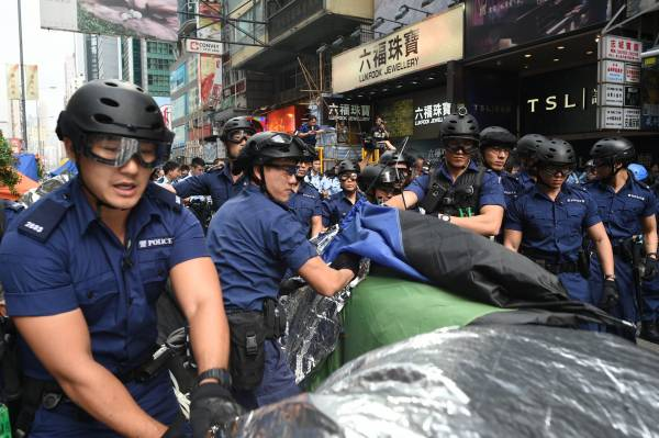 Hong Kong Police Clear Protest Camp