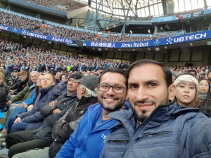Salman Wadiwala ( Marketing Head United) is with Inam Ul Qyyum watching live match in Manchester