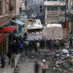 600 Syrians Flee Besieged Old Homs in Aid Convoy