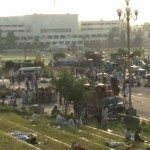 PTI-PAT Marchers Camping Outside Parliament